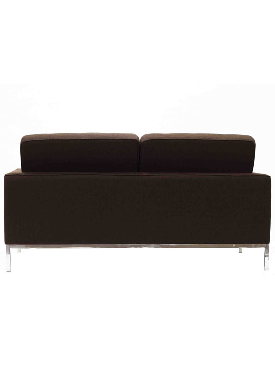 Bateman Brown Wool Love Seat 3