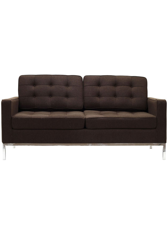 Bateman Brown Wool Love Seat