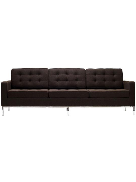 Bateman Brown Wool Sofa