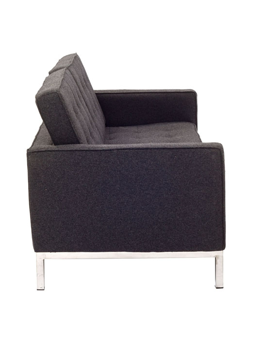 Bateman Dark Gray Wool Love Seat 4