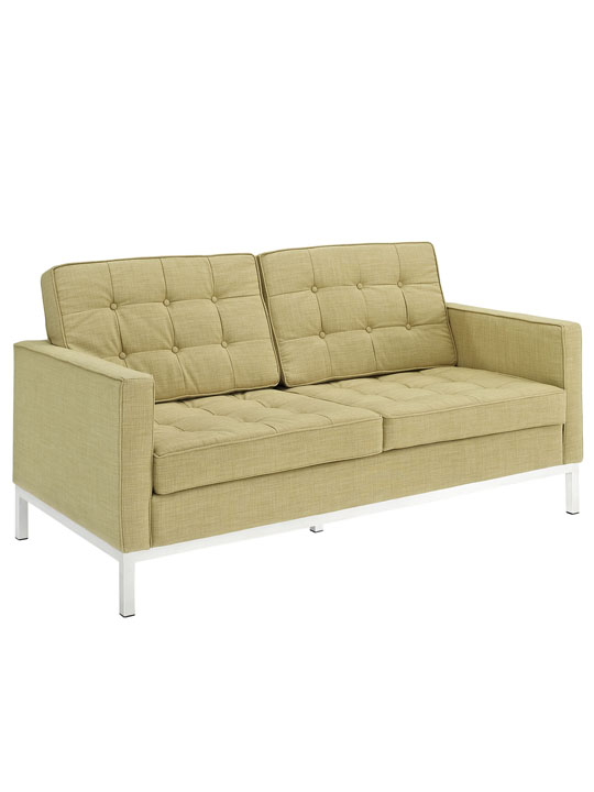 Bateman Green Wool Love Seat 2