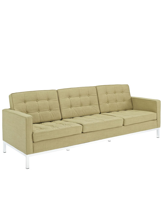 Bateman Green Wool Sofa