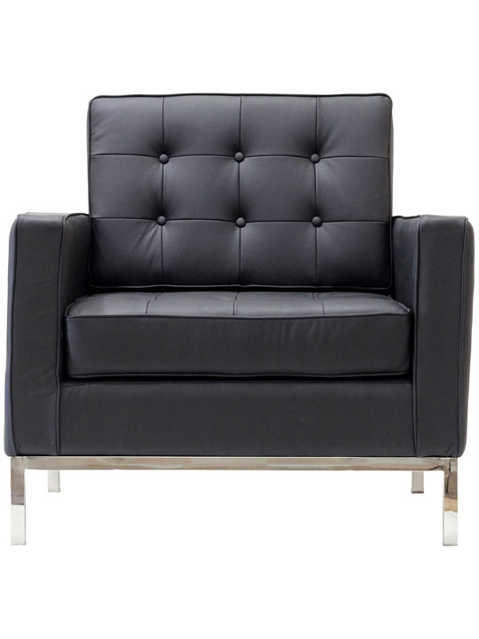 Bateman Leather Sofa Chair Black