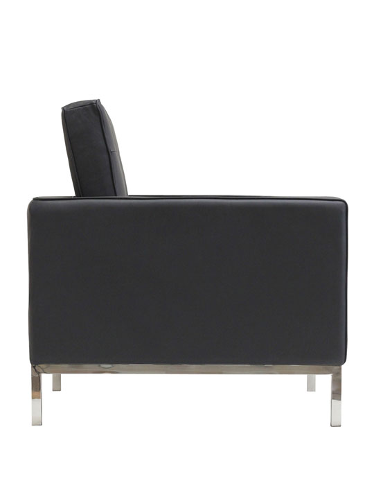 Bateman Leather Sofa Chair Black 2