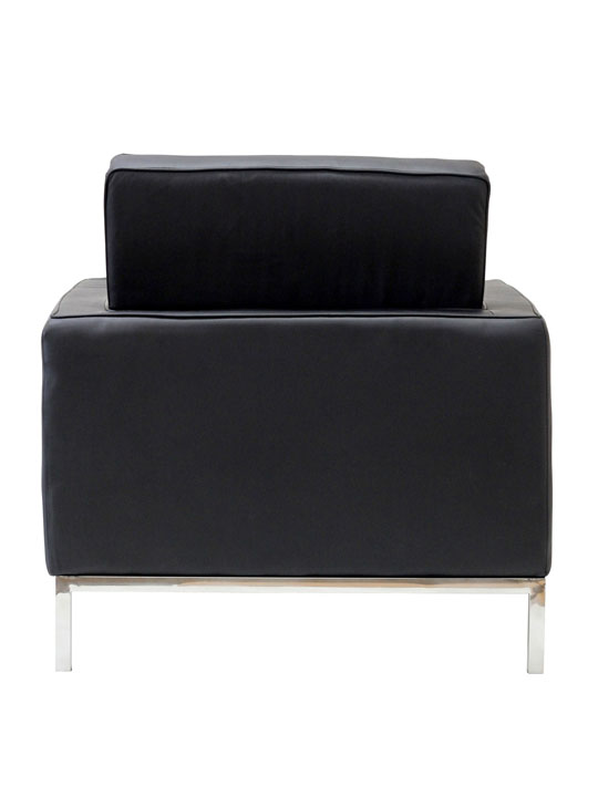 Bateman Leather Sofa Chair Black 3