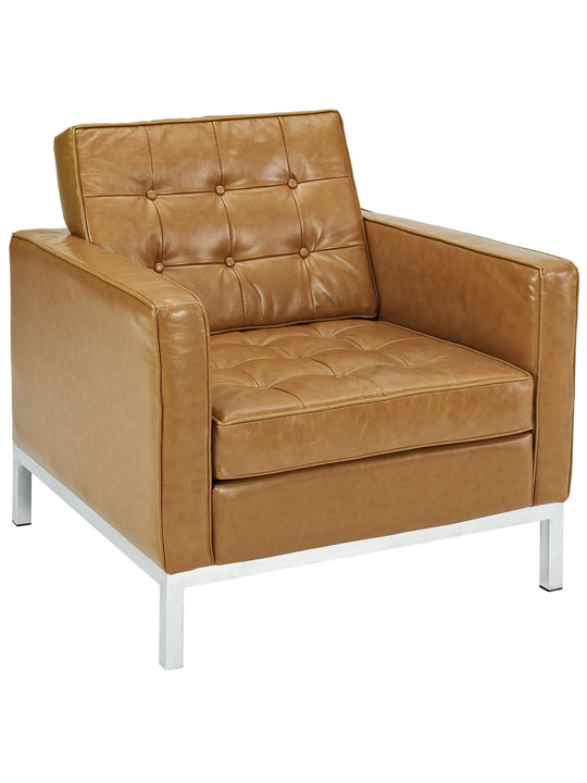 Bateman Leather Sofa Chair Tan 2