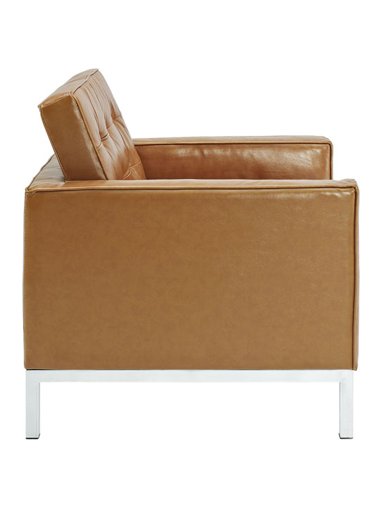 Bateman Leather Sofa Chair Tan 3