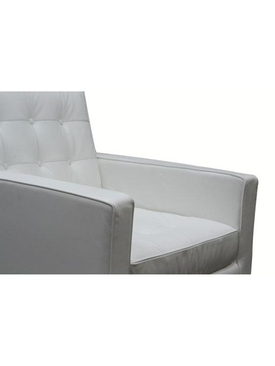 Bateman Leather Sofa Chair White 2