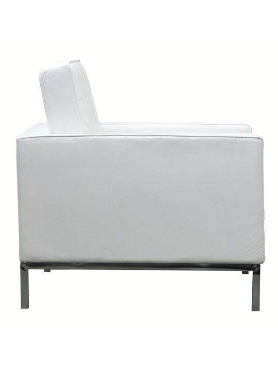 Bateman Leather Sofa Chair White 3
