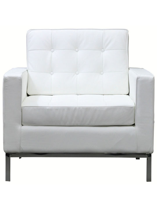Bateman Leather Sofa Chair White