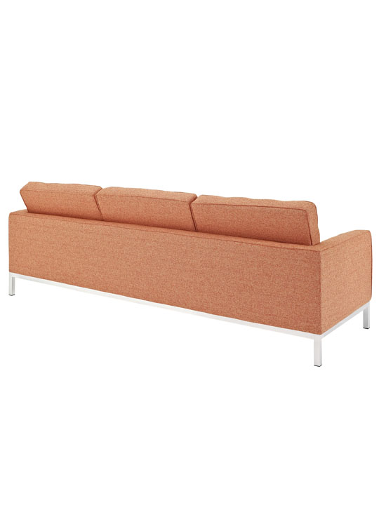 Bateman Orange Wool Sofa 2
