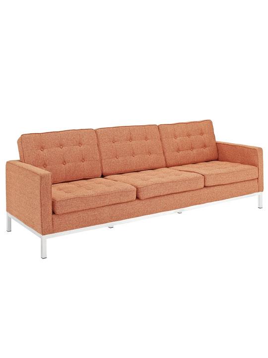 Bateman Orange Wool Sofa