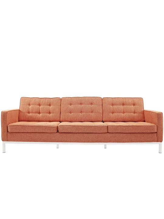 Bateman Red Wool Sofa 4