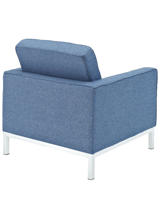 Bateman Wool Armchair Blue