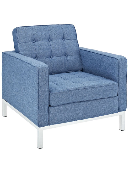 Bateman Wool Armchair Blue 3