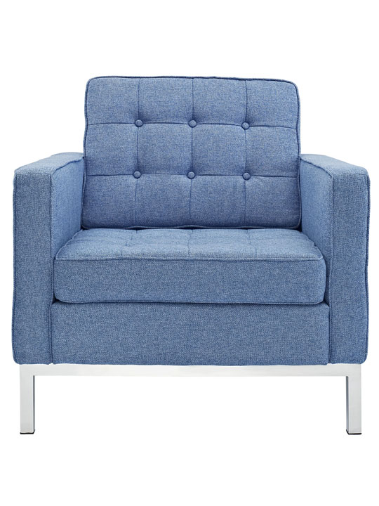Bateman Wool Armchair Blue 4