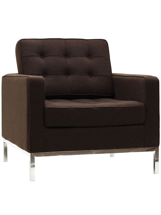 Bateman Wool Armchair Brown 3
