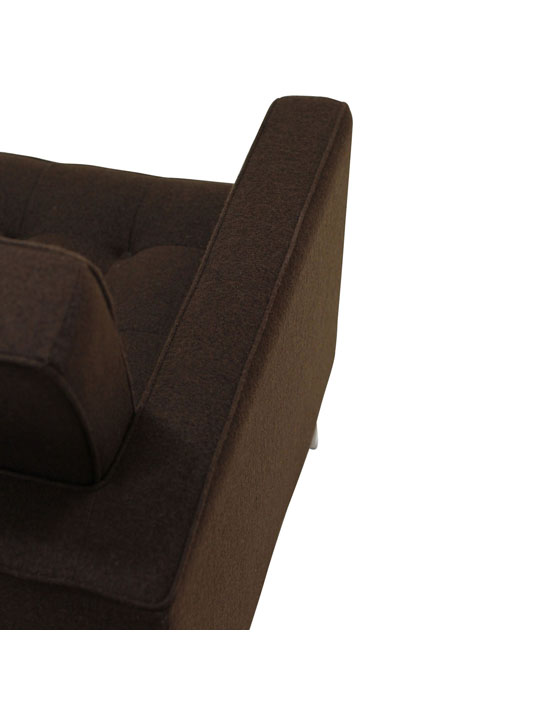 Bateman Wool Armchair Brown