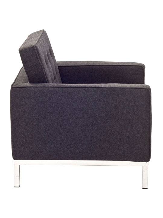 Bateman Wool Armchair Dark Gray