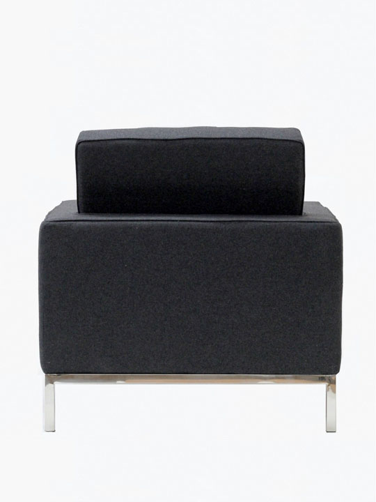 Bateman Wool Armchair Dark Gray 2