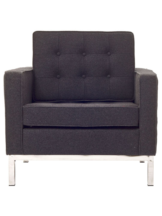 Bateman Wool Armchair Dark Gray 4