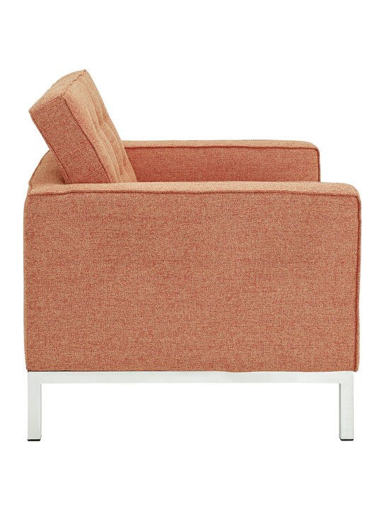 Bateman Wool Armchair Orange 2