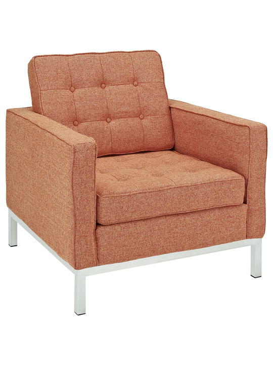 Bateman Wool Armchair Orange 3