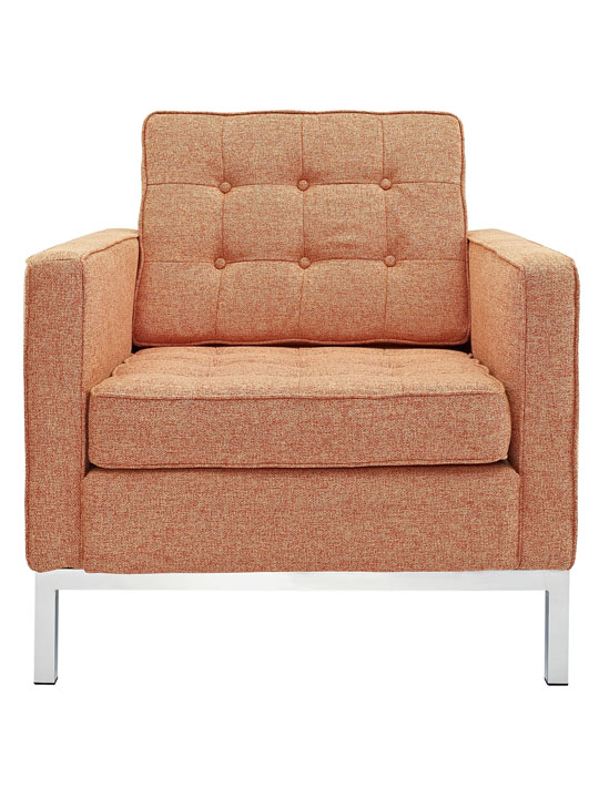 Bateman Wool Armchair Orange 4