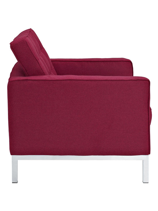 Bateman Wool Armchair Red 2