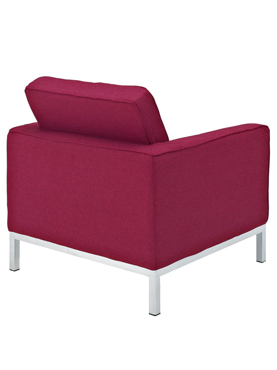 Bateman Wool Armchair Red