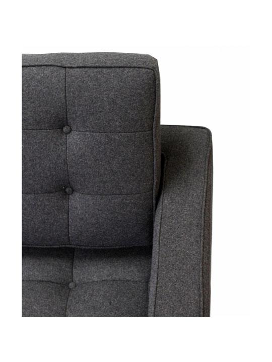 Bateman Wool Sofa Dark Gray 2