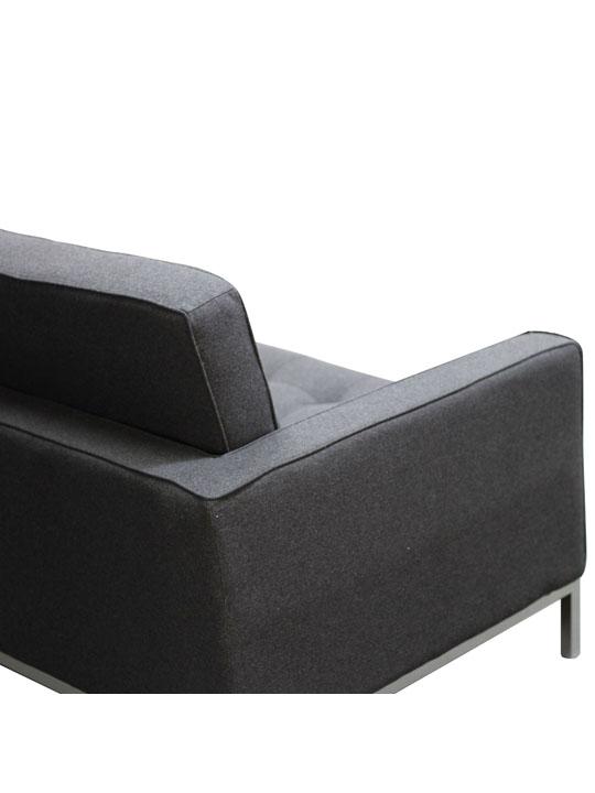 Bateman Wool Sofa Dark Gray 3