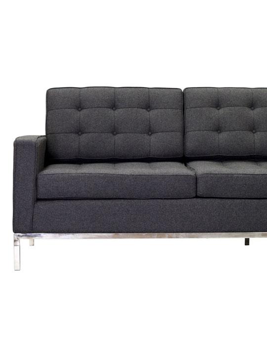 Bateman Wool Sofa Dark Gray 4