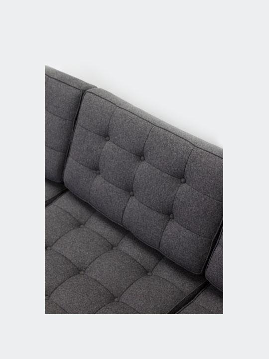Bateman Wool Sofa Dark Gray 5