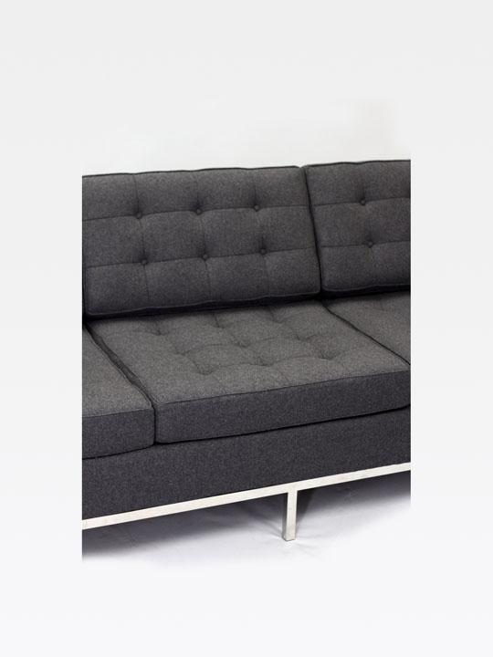 Bateman Wool Sofa Dark Gray 6