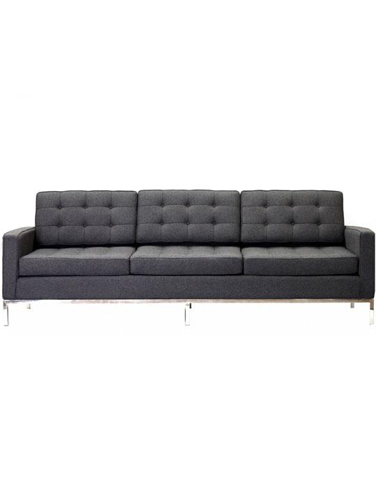 Bateman Wool Sofa Dark Gray