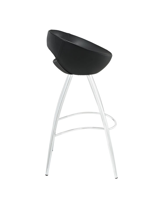 Black Flower Pot Barstool 2
