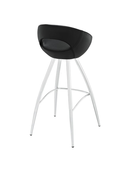 Black Flower Pot Barstool 3