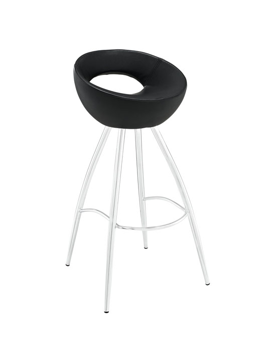Black Flower Pot Barstool