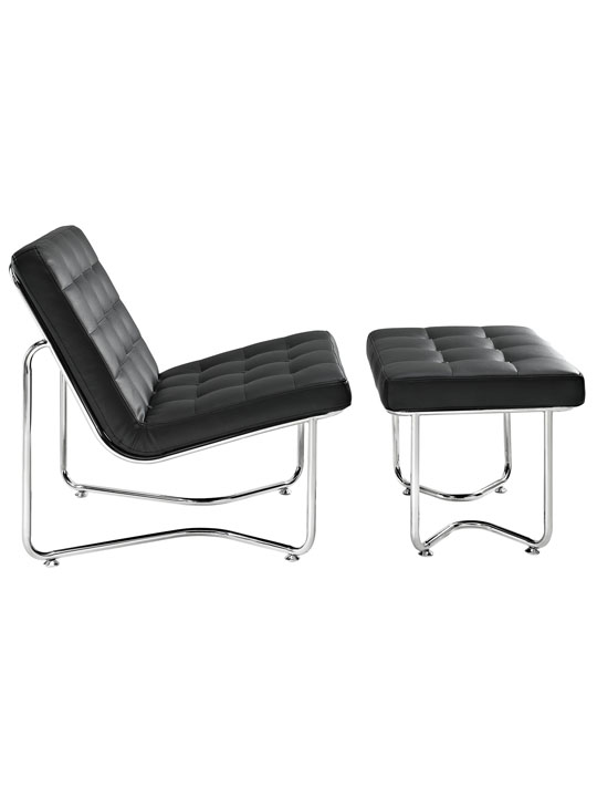 Black Leather Arctic Lounge Set 2