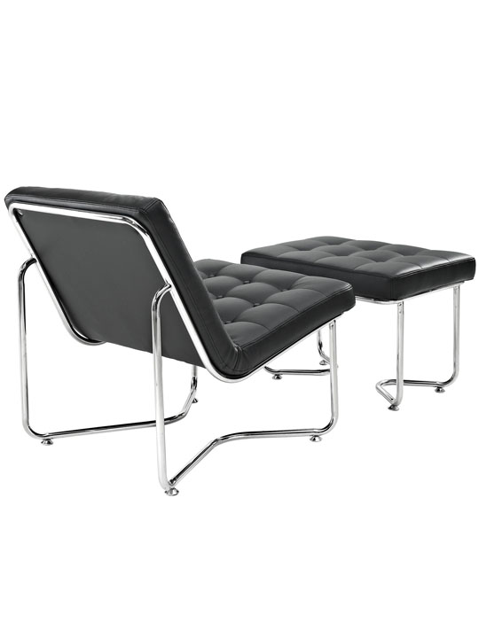 Black Leather Arctic Lounge Set 3