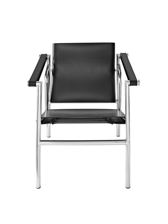 Black Leather Attache Chair 2