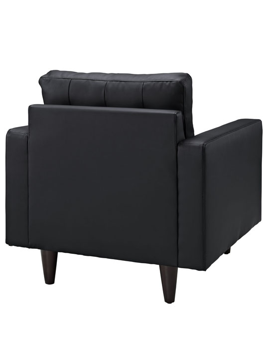 Black Leather Bedford Armchair 4