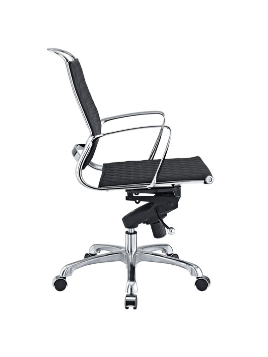 Black Leather Coco Low Back Office Chair 2