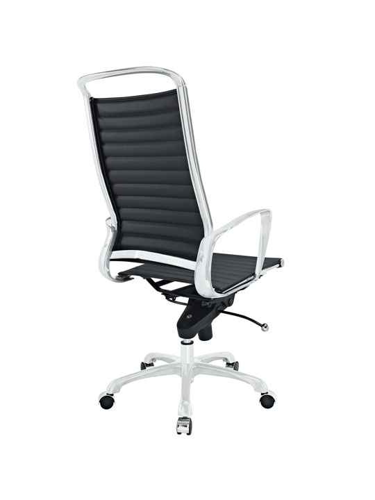 Black Leather Instant Planner High Back Office Chair 3
