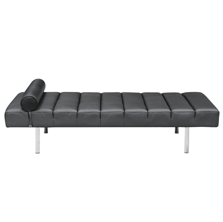 Black Leather King Stretch Bench 4