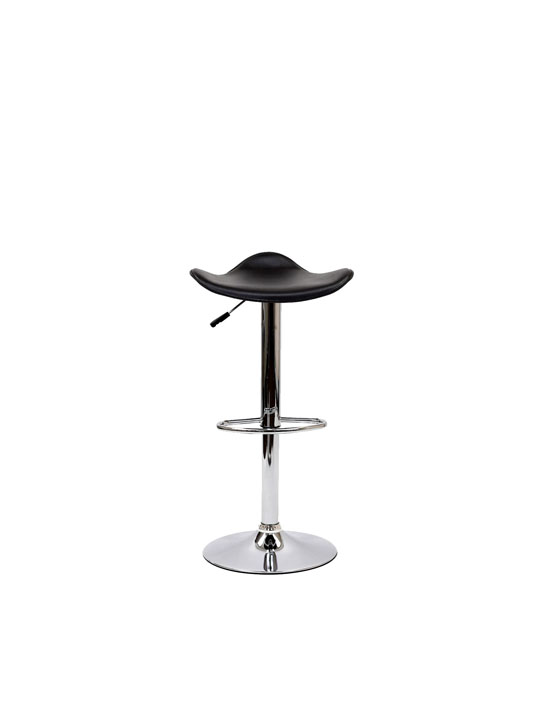 Black Leather Terra Bar Stool 3