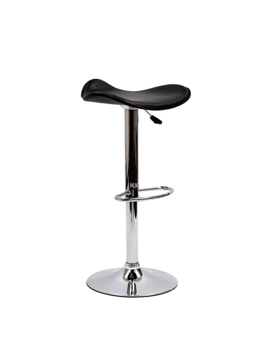 Black Leather Terra Bar Stool 4