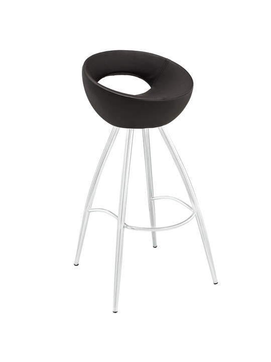 Brown Flower Pot Barstool