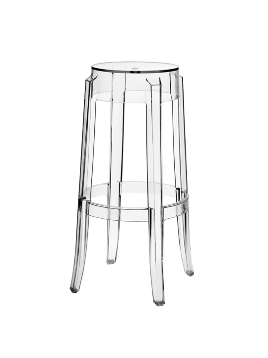Clear Acrylic Charles Ghost Barstool